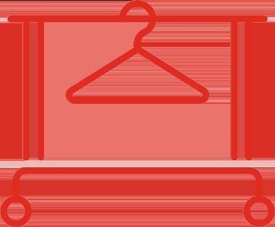icone rouge de merchandising visuel
