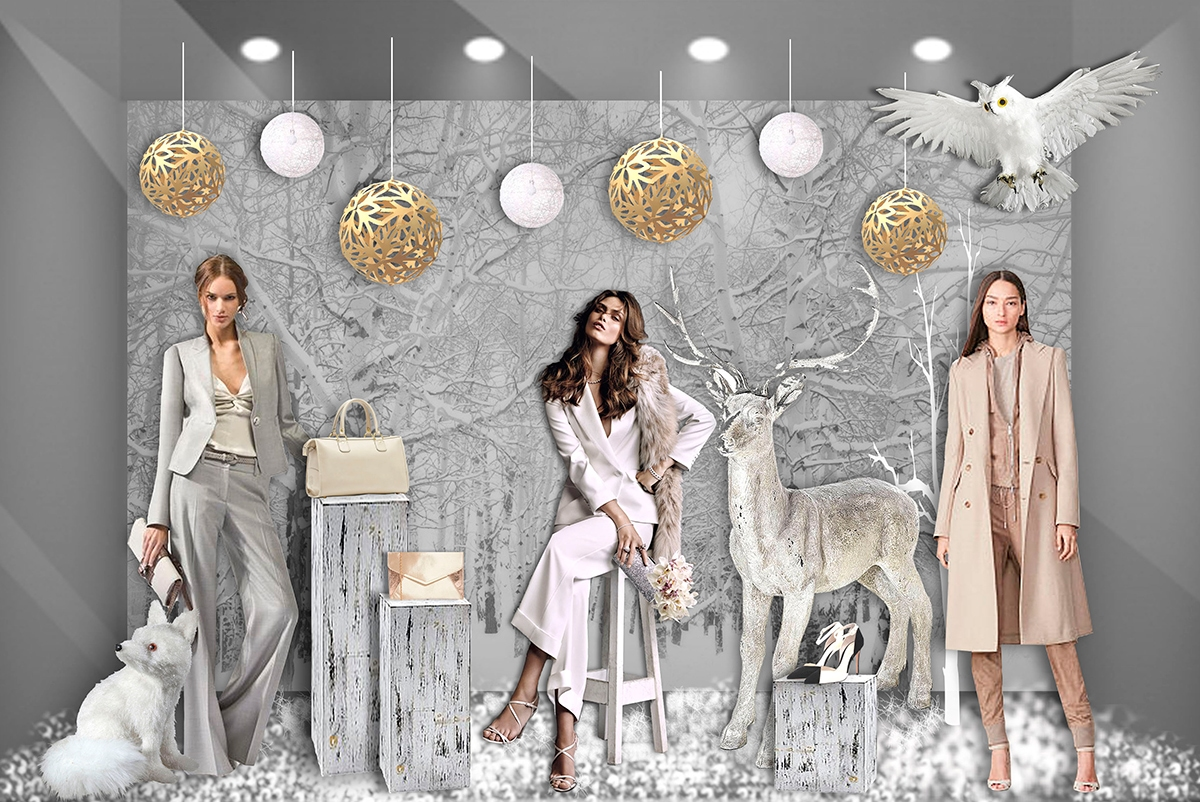 scenographie-vitrine-merchandising-magasin-pret-a-porter-femme-mode-hiver-©roubina-tacorie